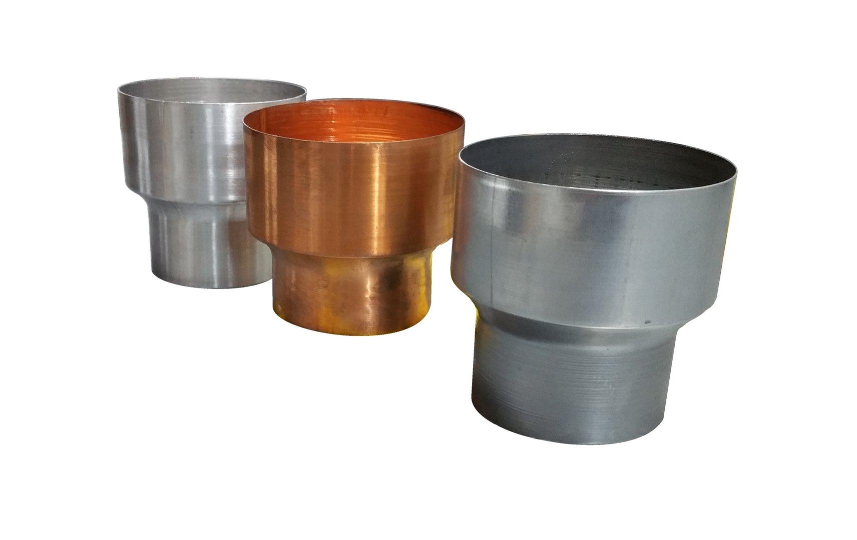 Reduzierstück Fallrohrreduzierung nach DIN EN 612 Metall in Form