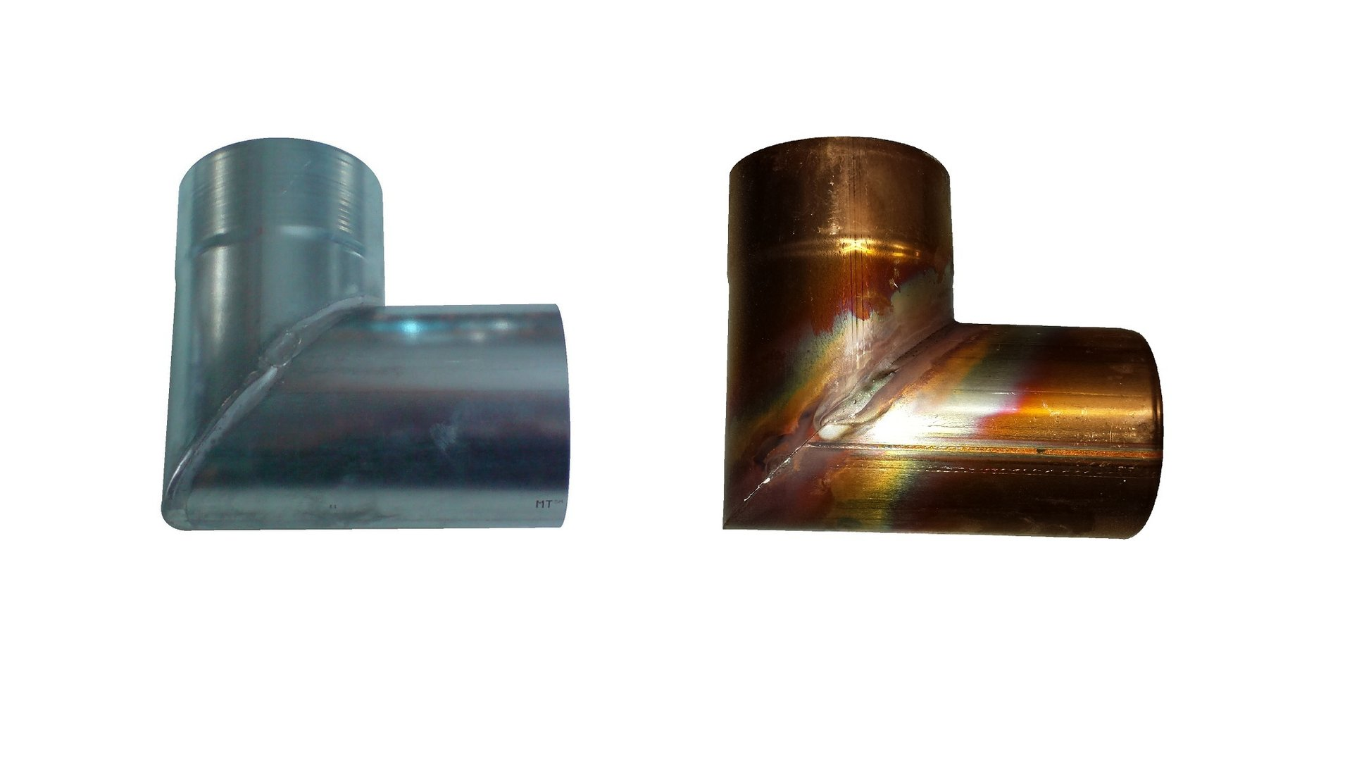 Rohrwinkel Ablaufrohrwinkel Titanzink / Kupfer Metall in Form