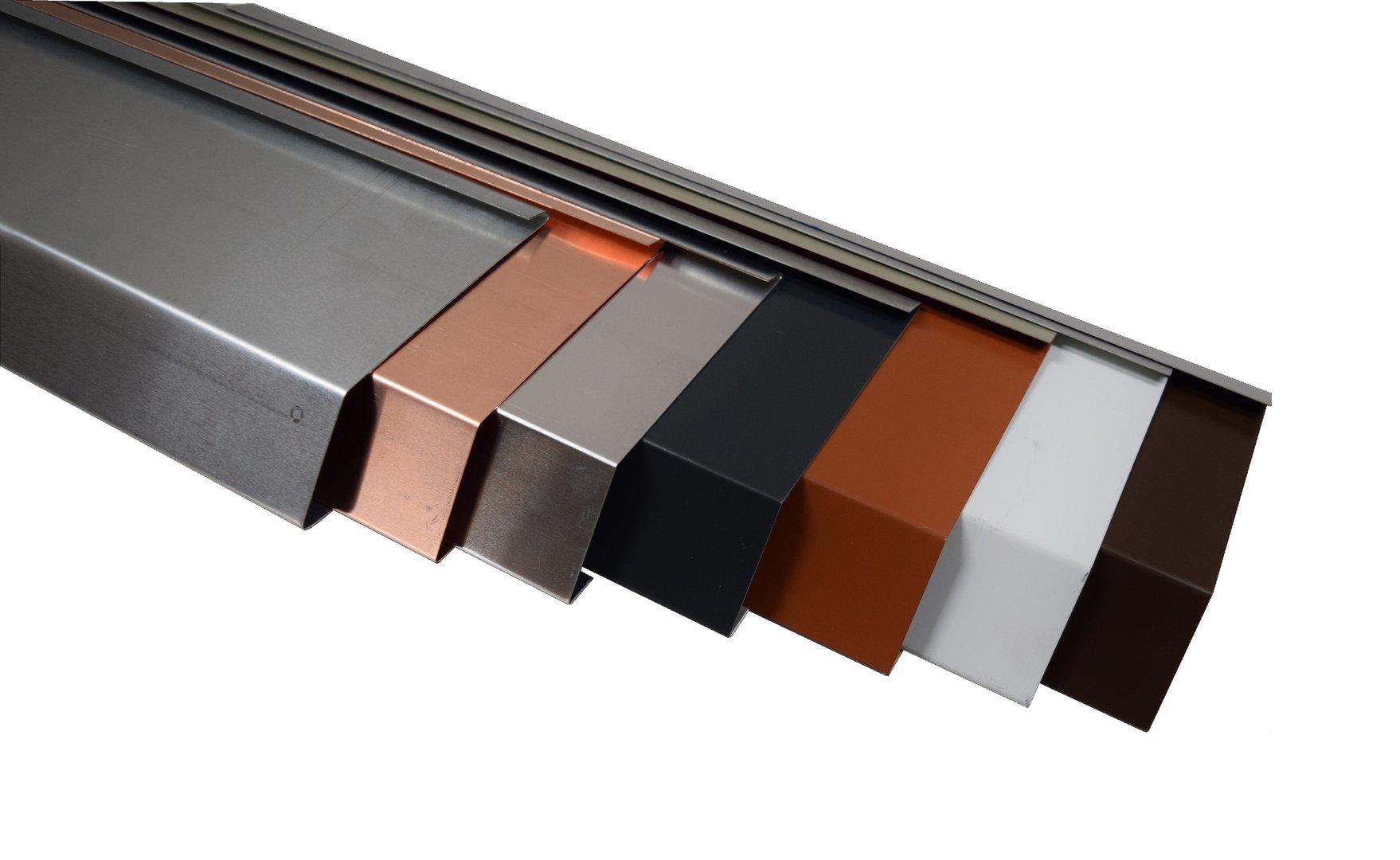 traufblech einhangblech f r dachrinnen regenrinnen metall. Black Bedroom Furniture Sets. Home Design Ideas