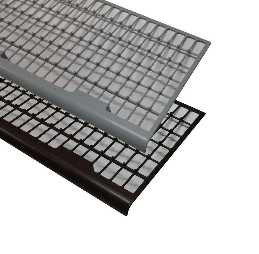 Laubschutz Dachrinne dachrinnen laubschutz kunststoff 1 00m braun grau metall in form