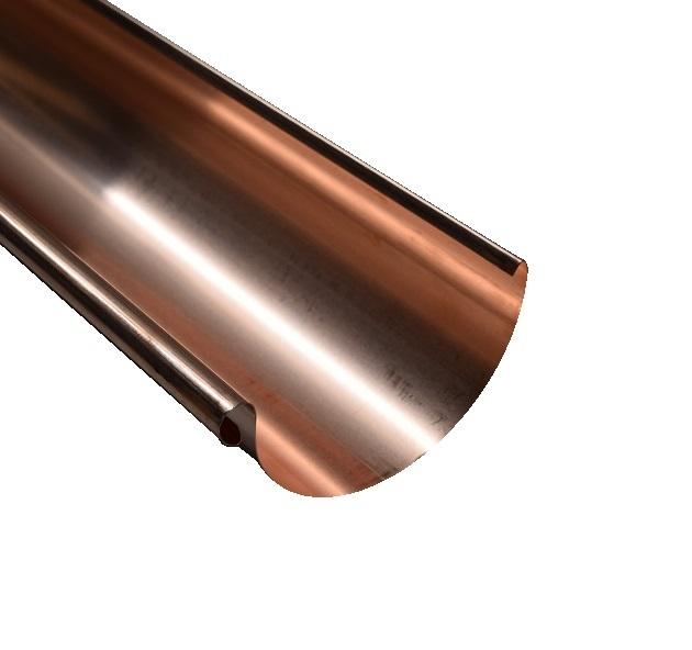 Dachrinne Kupfer 0,6 RG 125 / 7 tlg. / 285mm a 1,50m