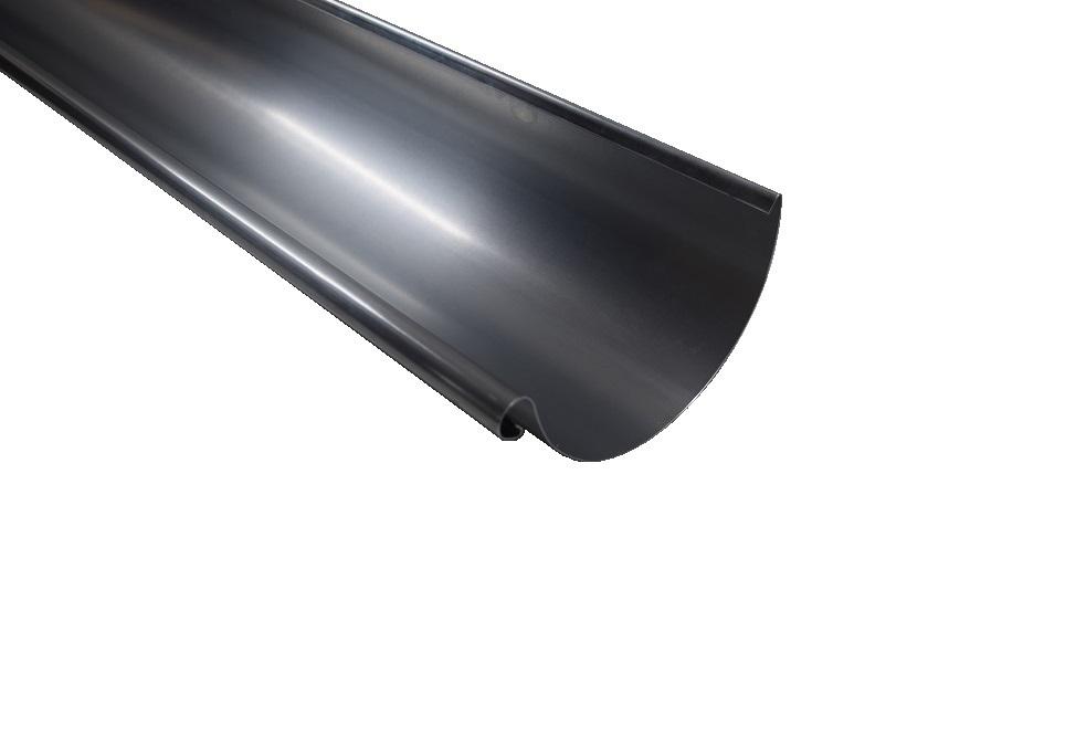 Dachrinne Aluminium 0,8 RG 100 / 8 tlg. / 250mm a 1,50m