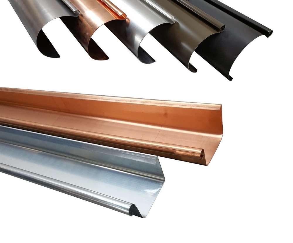 dachrinnen titanzink (zink) / kupfer / aluminium metall in form